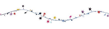 Multi Color Star Wire Garland 12ft