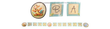 Pooh Baby Days Baby Shower Banner 8ft