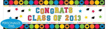 Colorful Personalized Graduation Banner 65in