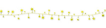 Gold Star Wire Garland 12ft