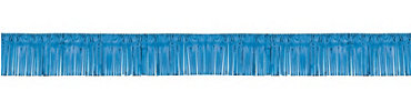 Blue Foil Fringed Garland 20ft
