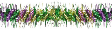 Mardi Gras Spiked Tinsel Garland 9ft
