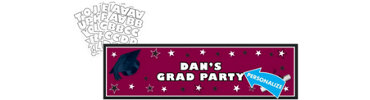 Berry Personalized Graduation Banner 65in