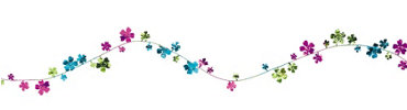 Summer Floral Wire Garland 12ft