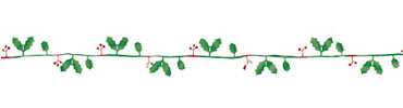 Holiday Berry Wire Garland 12ft