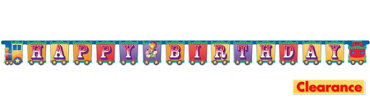 Big Top Birthday Jointed Banner 8ft