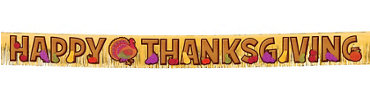 Thanksgiving Fringe Letter Banner 10ft