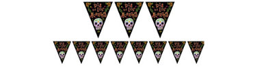 Day of the Dead Pennant Banner 12ft
