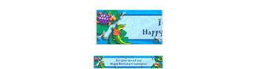 Leap Frog Friends Custom Birthday Banner