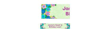 Floral Paradise Cool Custom Banner 6ft
