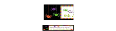 Spider Frenzy Custom Halloween Banner 6ft