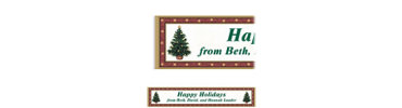 Classic Christmas Tree Custom Banner 6ft