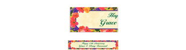 Bright Blooms Custom Banner 6ft