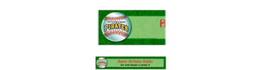 Pittsburgh Pirates Custom Banner 6ft