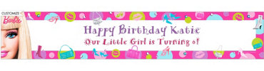Barbie Custom Birthday Banner