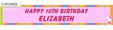 Hello Kitty Custom Birthday Banner