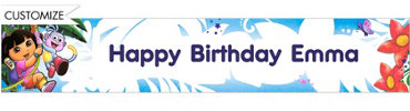Dora the Explorer Custom Birthday Banner 6ft