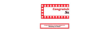 American Summer Red Gingham Custom Banner 6ft