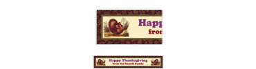 Thanksgiving Sophistication Custom Banner 6ft