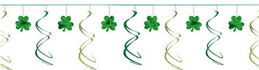 Shamrock Swirl Garland 12ft