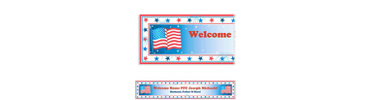 Star Spangled Banner Welcome Home Custom Banner 6ft