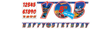 Add an Age Hot Wheels Letter Banner 10ft