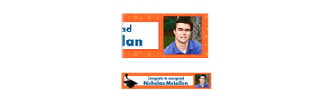 Orange Congrats Grad Custom Photo Banner 6ft