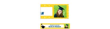 Yellow Congrats Grad Custom Photo Banner 6ft