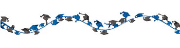 Blue Wire Graduation Garland 12ft