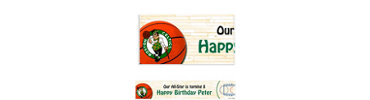 Boston Celtics Custom Banner 6ft