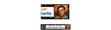 The Party Continues 60th Birthday Custom Photo Banner 6ft