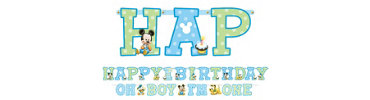 Mickey Mouse 1st Birthday Banner Kit 2pc