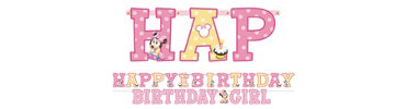 Minnie Mouse 1st Birthday Banner Kit 2pc