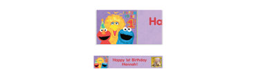 Sesame 1st Birthday Custom Photo Banner 6ft