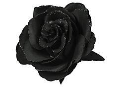 Gothic Black Flower Hair Clip