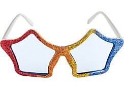 Glitter Rainbow Star Glasses