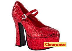 Dorothy's Ruby Platform Shoes