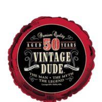 Quick Shop Vintage Dude 50th Birthday Balloon