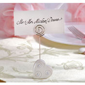 Heart Place Card Holder Wedding Favor