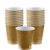 Gold Plastic Cups 20ct
