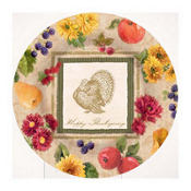 Thanksgiving Harvest Dessert Plates 8ct