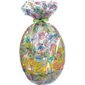 Painted Eggs Cello Basket Bags 25in 2ct