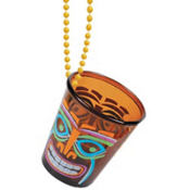 Totally Tiki Shot Glass Necklace 20in 2oz