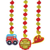 Firefighter String Decorations 3ct