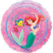 Foil Pink Little Mermaid Balloon 18in