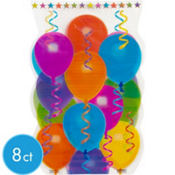 Balloon & Stars Jumbo Favor Bags 8ct