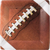 Football Fan Square Dinner Plates 8ct