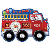 Fire Engine Fun Invitations 8ct