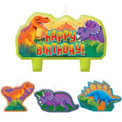 Prehistoric Dinosaurs Birthday Candles 6ct