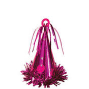 Hot Pink Party Hat Balloon Weight 6oz